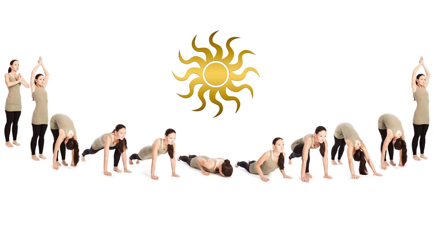 Les 12 postures de la salutation au soleil